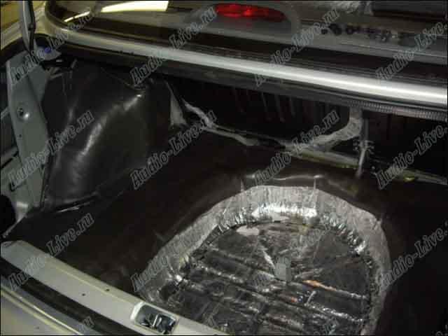 Шумоизоляция багажника ланос своими руками 83